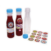 10 Large Plastic Bottles Stickers & Recipe - Ha Bore Pri Ha Geffen - DIY Wine or Grape Juice Project