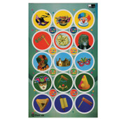 Large Round Purim Stickers
