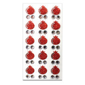 glittery pomegranates & gems stickers for Rosh HaShanah, the Jewish new year.