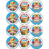 Happy Birthday in Hebrew Stickers (מדבקות יום הולדת)
