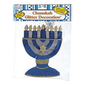 Chanukah Menorah Glitter Decoration