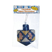 Chanukah Dreidle Glitter Decoration