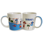 Modern and beautiful Israel map mug