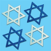 Glitter Die-Cut Star of David Foam Shapes