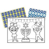 """Kol HaAretz Degalim"" Coloring Craft with Stickers"