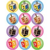 Chanukah Dreidles Stickers