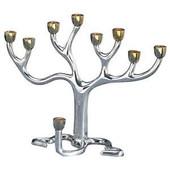 "Large ""Tree of Life"" (TM) Menorah"