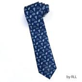 "Dreidels & Menorahs"" Faux Silk Chanukah Tie"