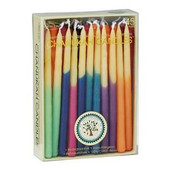Chanukah Candles - Hand-dipped Beeswax, Assorted Colors