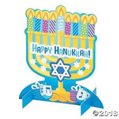 3D Menorah Sticker Scene