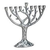 "Textured ""Tree of Life"" (TM) Menorah 8.25"" Tall"