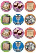 "Passover Symbols Stickers 1.3"" (120)"