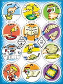 Order of the Seder Passover Stickers