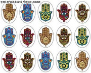 Hamsa Metallic Stickers