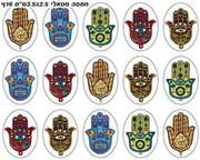 Hamsa Metallic Stickers