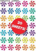 Colorful Pinwheel Stickers
