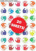 Colorful Children's Hand Print Stickers
