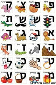 Hebrew Letters in Pictures Stickers - The Hebrew Alef Bet illustrated in pictures