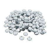 Silver Large Faceted Round Gems
