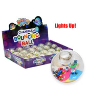 Chanukah Bouncing Balls - Light-Up