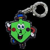 Hanukkah Dreidel Rubber Keychain