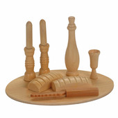 Natural Shabbat Wooden Play Set