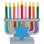 Wooden Chanukah Toy Menorah