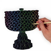 Magic Scratch Menorah Chanukah Art & Craft Project