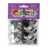 Star of David Silver Confetti