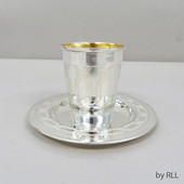 Silverplated Kiddush Cup With Saucer