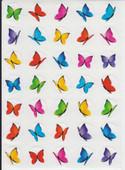 """Butterflies stickers 0.7"""" ((350))"""