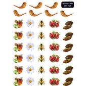 Rosh HaShana Symbols Stickers - 390 in Pack