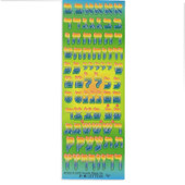 Rainbow Die-Cut Aleph-Bet Stickers
