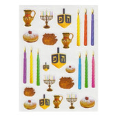 Chanukah Shaped Photo Quality Stickers