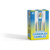 Blue & White Chanukah Candles