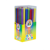 Long Multicolor Chanukah Candles