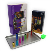 Magnetic Travel Menorah with Long Candles + Dreidel