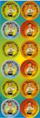 Mazal Tov, Ich Bin Drie Yare Alt Stickers