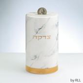 Marble Design Ceramic Tzedakah Box