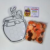Large Card-Stock Honey Jar with Hexagon Foam Shapes Craft