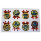 """Wiggle Picture """"Kol HaKavod"""" Medallion Hebrew Incentive Stickers"""