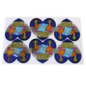 """Wiggle Picture """"Shabbat Shalom"""" Heart Stickers"""