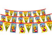 Tishrei Holiday Flag Chain for Coloring