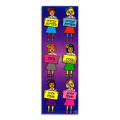 """Frum Girl """"Yelda Tovah"""" (ילדה טובה) """"Metzuyan"""" (מצוין) Shaped Incentive Stickers"""
