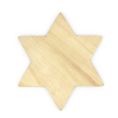 """Chunky Wooden Star of David for Decoration 6"""""""