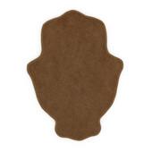 "Large Wood MDF Hamsa with Beveled Contour 6.5"" tall"