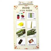 Sukkot & Simchat Torah Symbols Plastic Poster