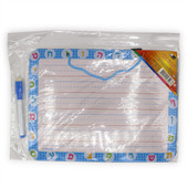 Aleph Bet Personal Practice Dry-Erase Board Blue