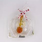 Clear Apple Shaped Honey Dish with Translucent Honey Dipper (Plastic)