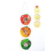 3 Wooden Apple Picture Frames Rosh HaShana Wall Hanging for Coloring
